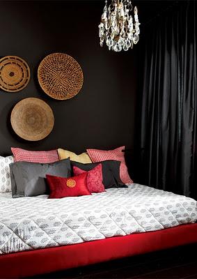 bedroom decor bold colors black white shabby chic chandelier