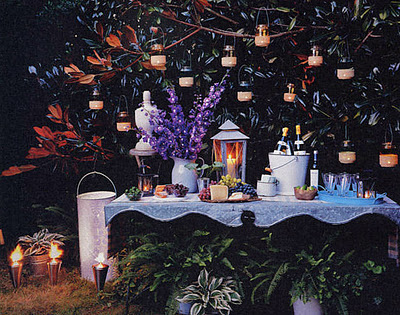 party decor holiday outdoor shabby chic festive lighting