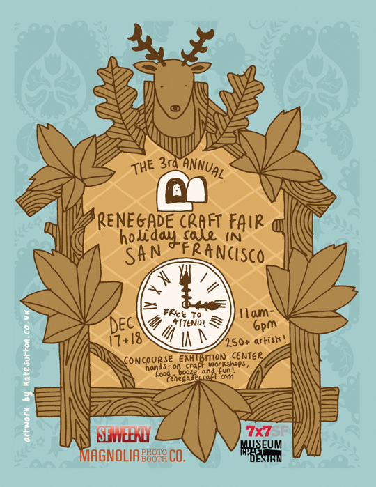 renegade craft fair, san francisco, handmade crafts, holiday fair