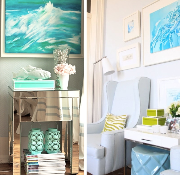 Turquoise Shabby Chic Bedrooms: Tickled With Turquoise