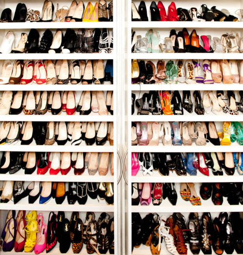 closet organized shoes storage fashion home