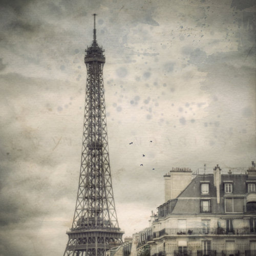 eiffel tower paris travel europe vintage