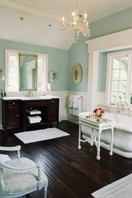 turquoise bathroom budoire bedroom design decor style ideas shabby chic glamorous
