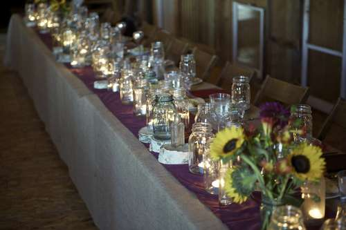 mason jar jars lighting ideas unique DIY party wedding decor shabby chic