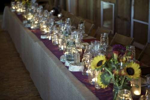 mason jar jars lighting ideas unique DIY party wedding decor shabby chic