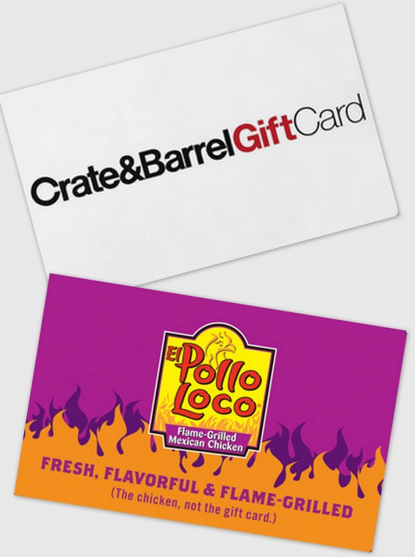 crate and barrel el pollo loco gift cards