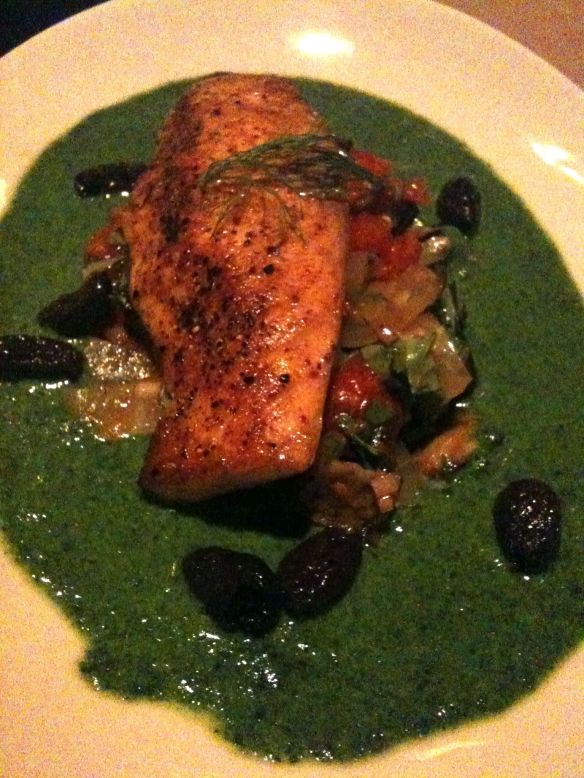 scottish salmon caponatta entree prix fixe dineLA restaurant week jiraffe french california fusion cuisine santa monica
