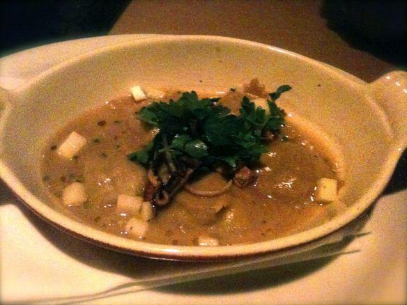 wild mushroom and aged gouda ravioli entree prix fixe dineLA restaurant week jiraffe french california fusion cuisine santa monica