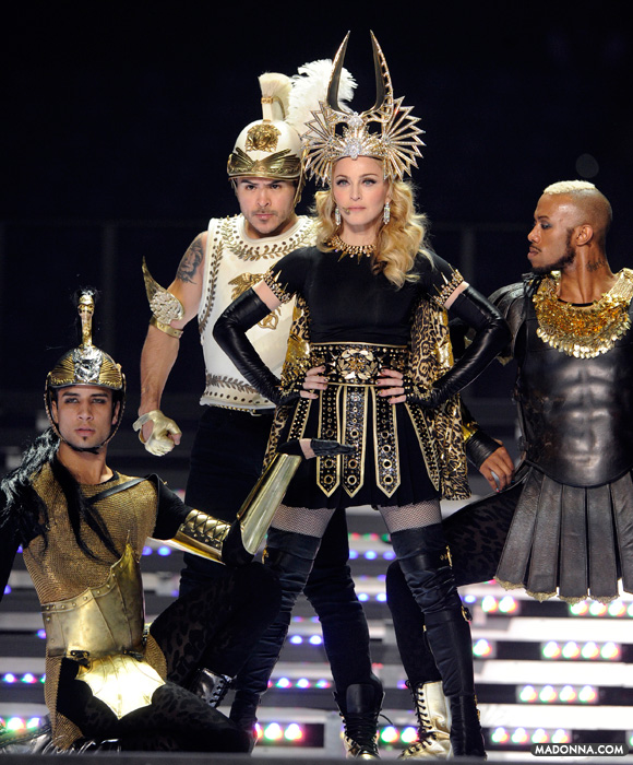 madonna super bowl 2012 halftime show icon jean paul gaultier queen of pop give me all your lovin