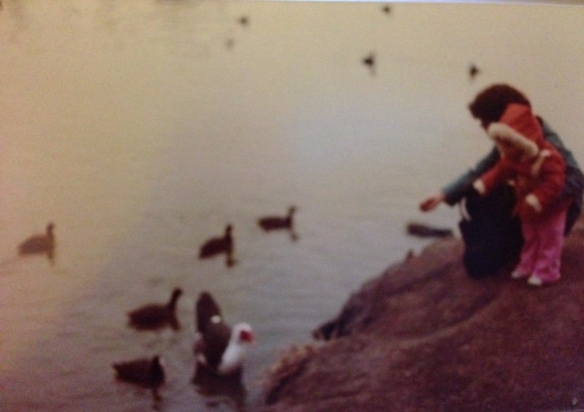 mothers day, mom, mother, feeding ducks, tenderness, a mother's love