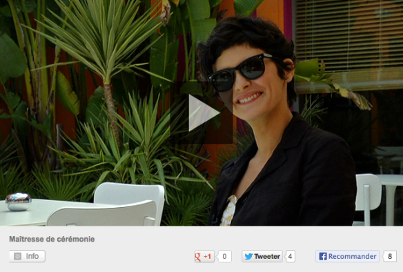 audrey tautou, cannes festival 2013, master of ceremony, interview, amelie, cannes, france, THERESE DESQUEYROUX, french cinema, film festival, exclusive interview, canal plus