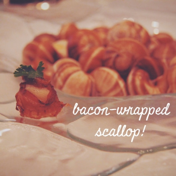 bacon wrapped scallop, weddings, caterer, tasting, Provence Catering, Philadelphia, Lochwood Estate, appetizer, hors d'oeuvres, passed hot, menu, planning