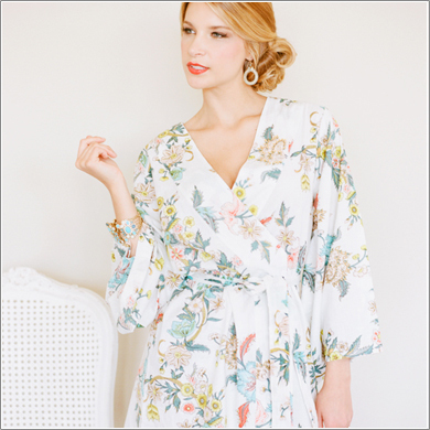 bridesmaid prep robe, gift, kimono robe