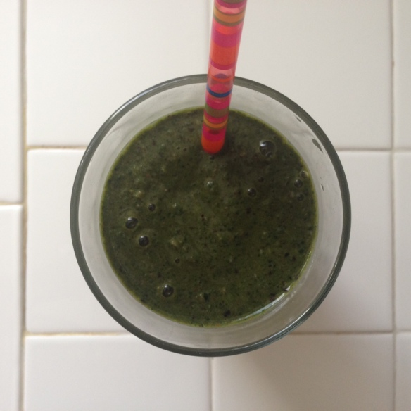 breakfast smoothie, recipe, green, healthy eats, spinach, kale, oatmeal, blueberries, trader joes, coach's oats, almond milk, hemp protein, low calorie, clean eating, clean eats, diet