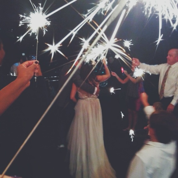 sparklers, wedding, weddings, venues, rustic, vintage, celebration, photography, photos, bride, bridal, gown, dress, reception, planning